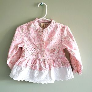 Children's Place Pink Cotton Shirt Size 24M